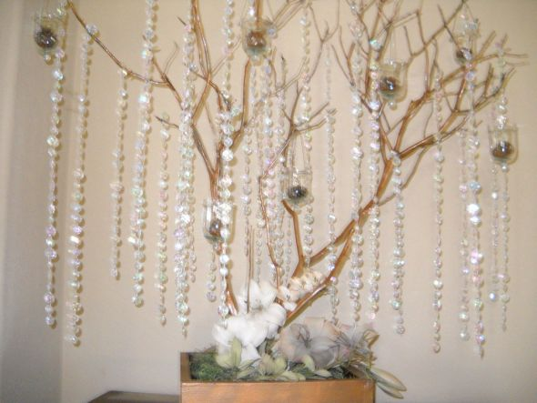 January Blue Decor Rustic Wedding Ideas wedding Rustic Wishing Tree Entry