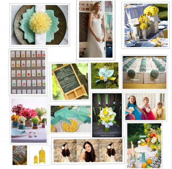 STYLE Inspiration Board Yellow and Blue Whimsical Wedding