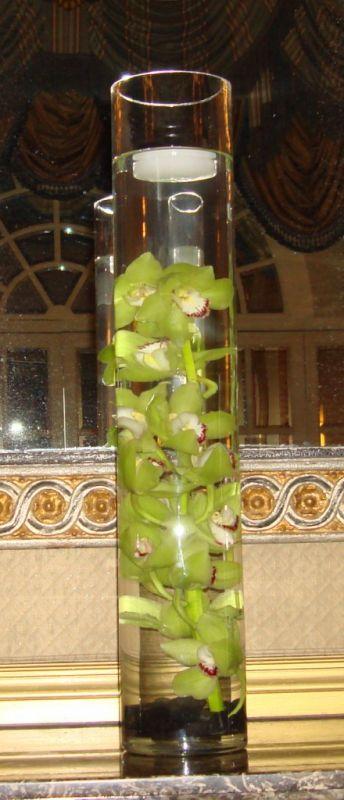 Centerpiece Meltdown wedding centerpieces orchids curly willow hydrangea