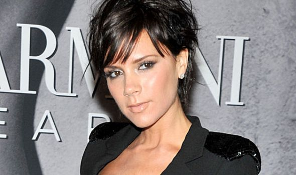Victoria Beckham has dark brown eyes and lately has not been as brown/orange