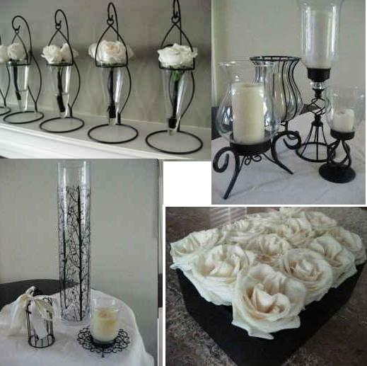 Black white centerpiece ideas weddingbee