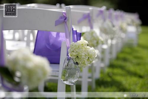 aisle decor for a rustic wedding wedding Masonjarflowerslovelife 500x333
