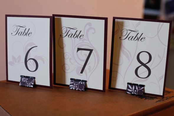 DIY Table Numbers and Stands
