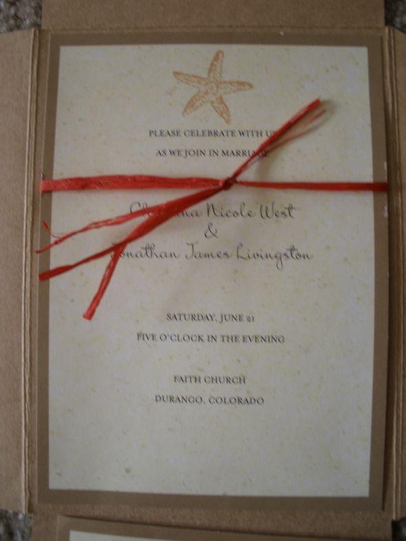 my sample beach wedding invites wedding Close Up Envelopes
