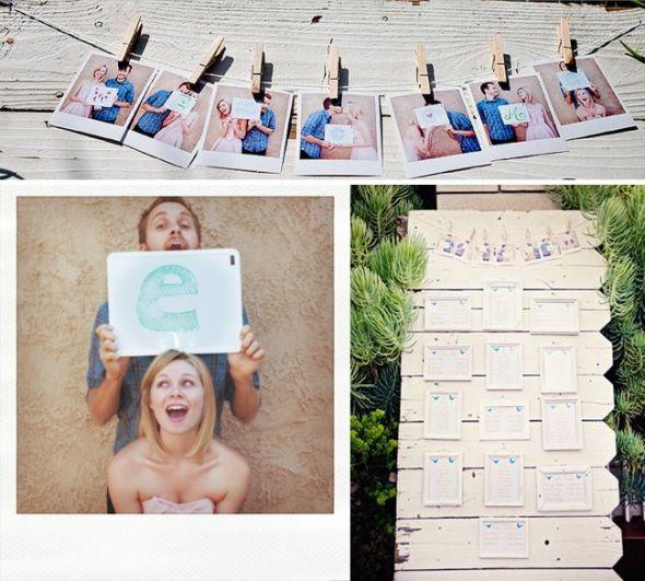 beach wedding place card ideas?? :  wedding Closepinplacecardswelcome