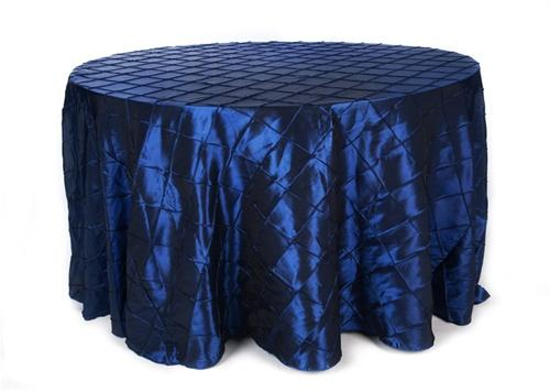 I have two 120 in rounch navy blue taffeta pintuck table cloths