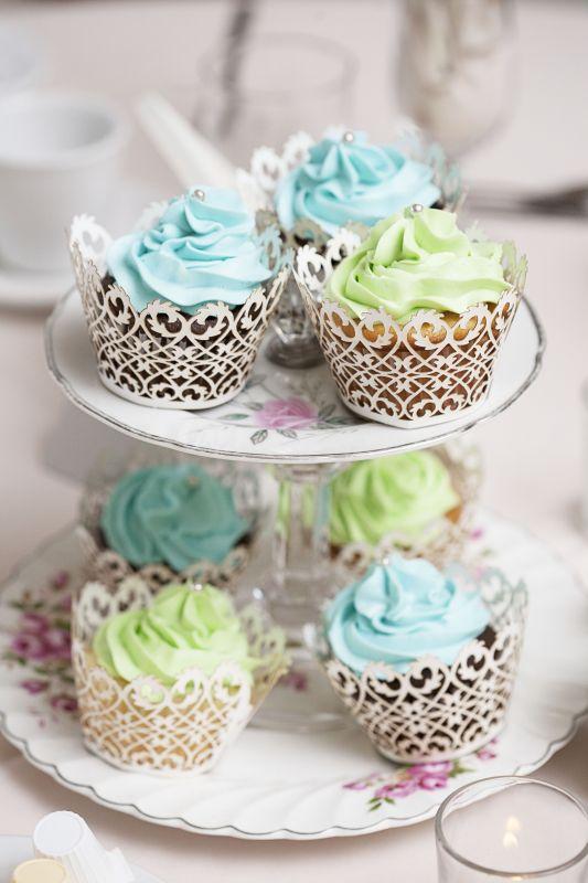 cakes or cupcakes as centerpiecescrazy or cute wedding Sarah Geoff