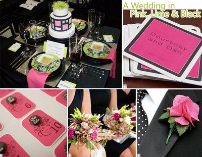Anyone else using fuchsia and black for their colors wedding 1 14 Pink