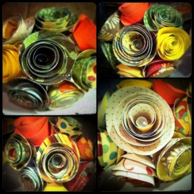 Wedding Flower Balls on Flower Balls Wedding On Tehe Wedding Blue Orange Ivory Yellow