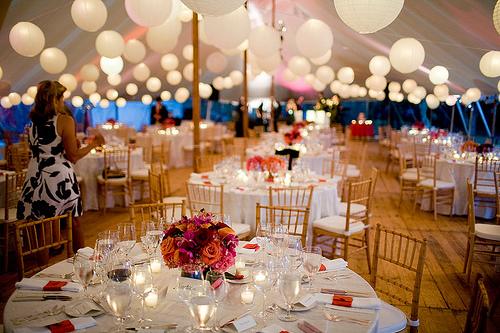 Lucretias blog tables take the biggest part in wedding decorations wedding lighting outdoor tent tent junglespirit Gallery