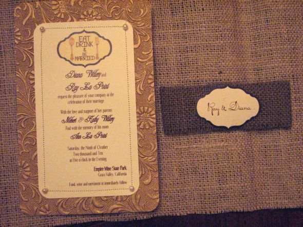 Burlap Wedding Invitations Diy: Fabric Belly Band And Twine!