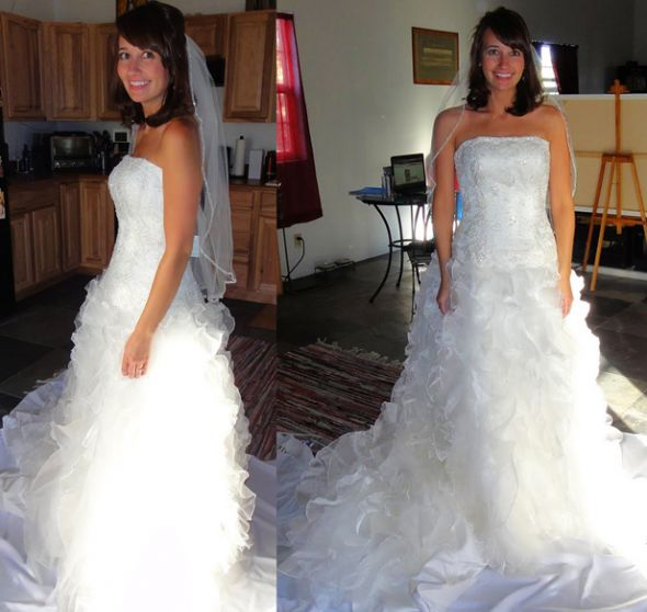 New Never Worn Monique Luo Style Ch515 Size 6 Wedding Gown