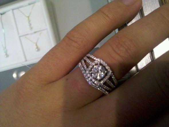 Halo Ring W Wrap Rose Gold
