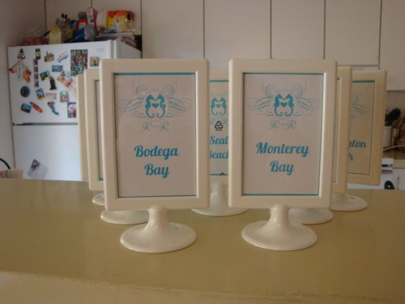We 39re having a beach themed wedding so the table names correspond with