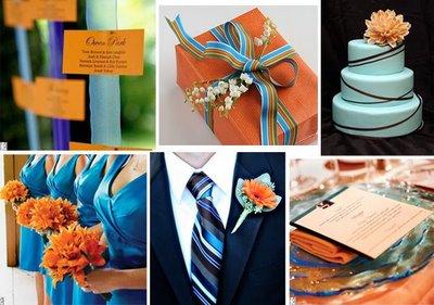 Inspiration burnt orange dark teal wedding wedding - Orange and teal decor ...