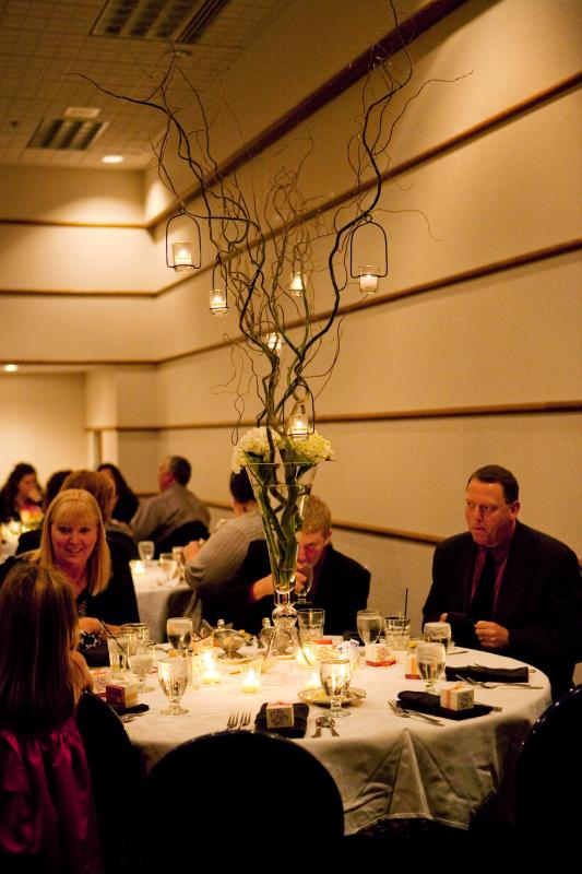 Tall Branch Centerpieces with Hangin