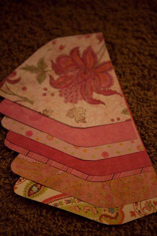 DIY Envelope Liners wedding envelopes envelope liners green orange pink