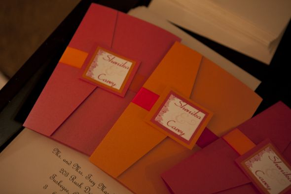 DIY Wedding Invitations wedding orange pink inspiration diy invitations