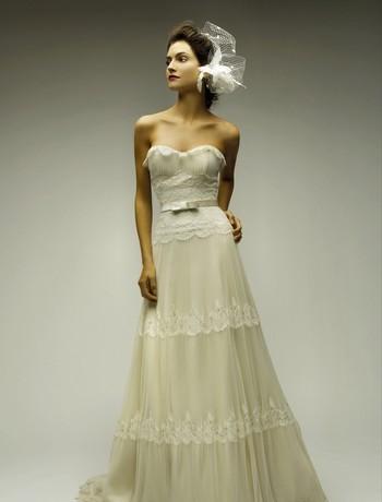 vintage shabby chic wedding dress wedding Melissa Sweet Wedding Dresses 2