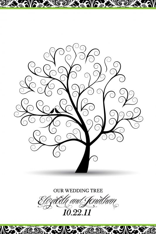 My wedding tree guestbook poster weddingbee photo gallery for Wedding tree guest book free template