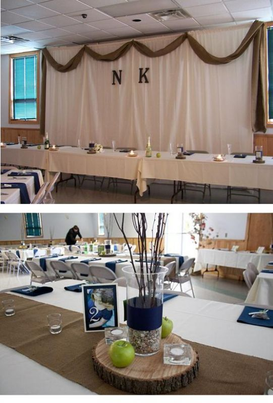 BURLAP TABLE RUNNERS SWAG VOTIVES AND MORE wedding burlap votives