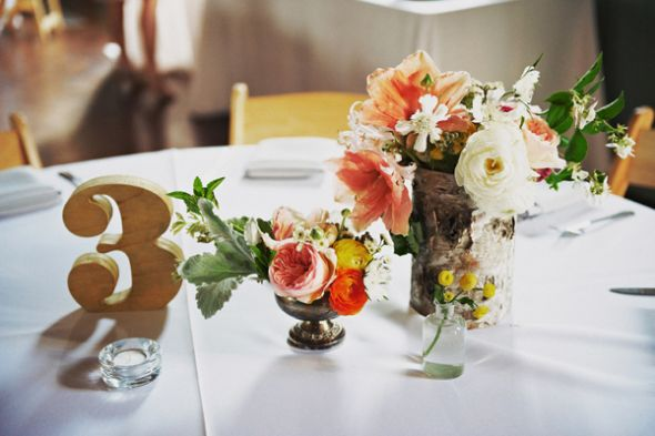 wedding table numbers reception Rustic Wedding Centerpieces