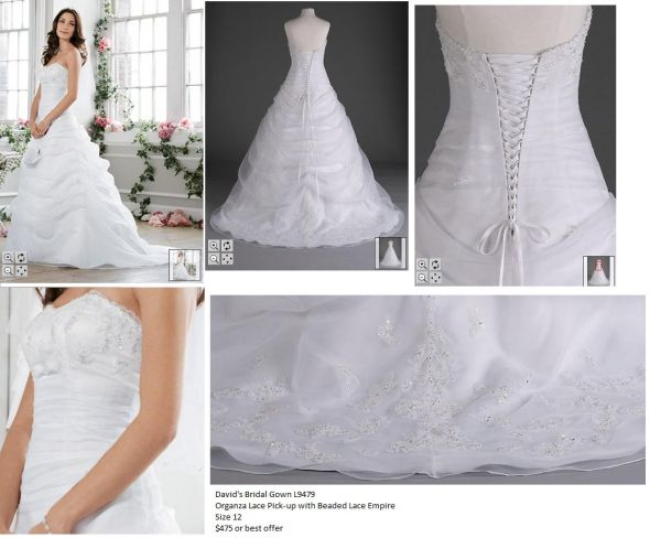 David 39s Bridal L9479 White Dress Never Worn wedding wedding dress white