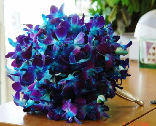 Bouquet Blue And Purple