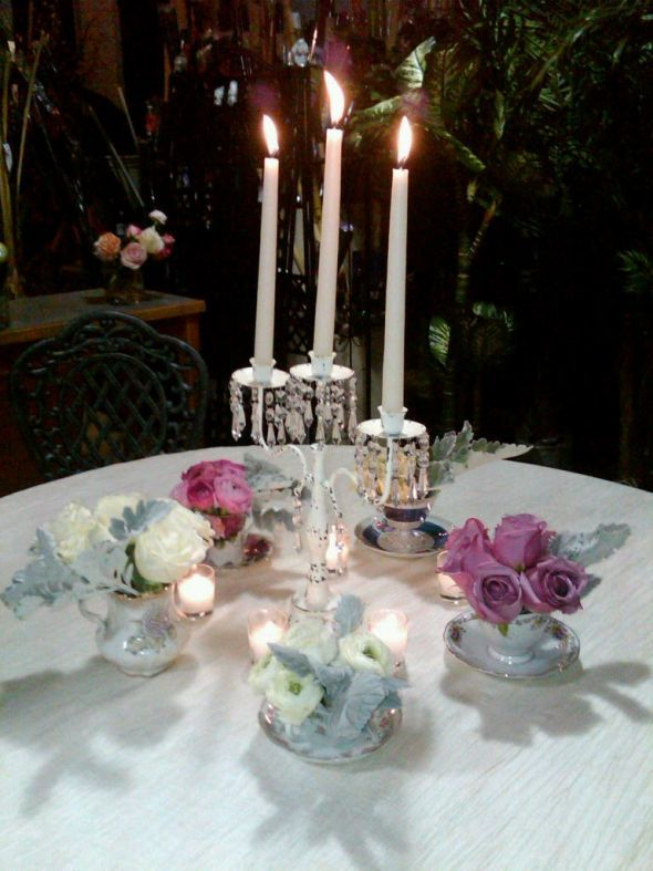 wedding candelabra centerpiece shabby chic candles regal
