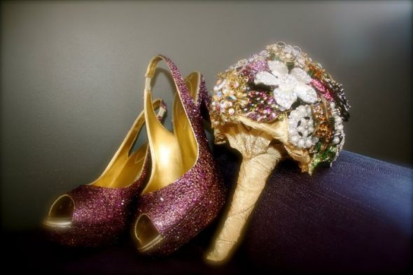 DIY Crystal Shoes wedding crystal wedding shoe diy pearl Shoes Bouquet