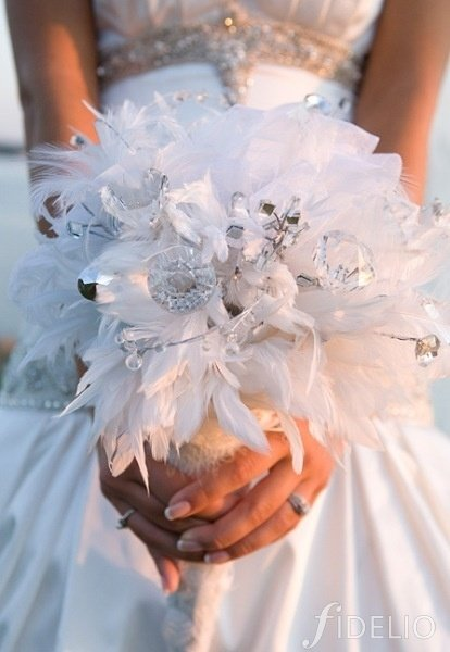 Wedding Bouquets With Feathers And Crystals : What color is your bridal bouquet weddingbee
