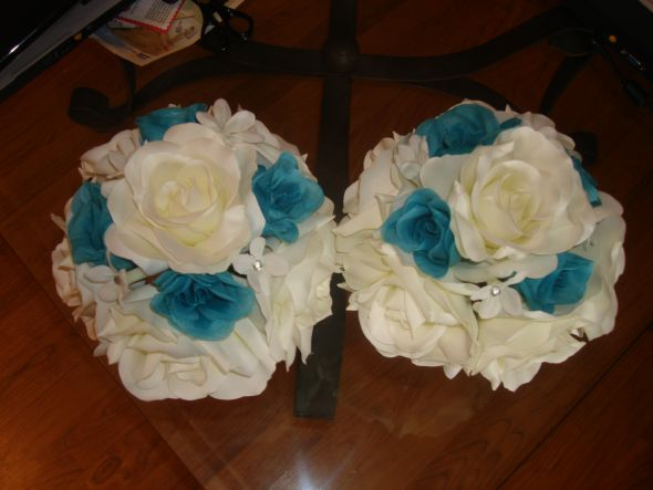 wedding colors aqua blue black white and touches of damask 1 year ago