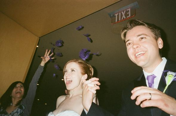 Feather Toss Grand Exit wedding feather toss non floral exit purple