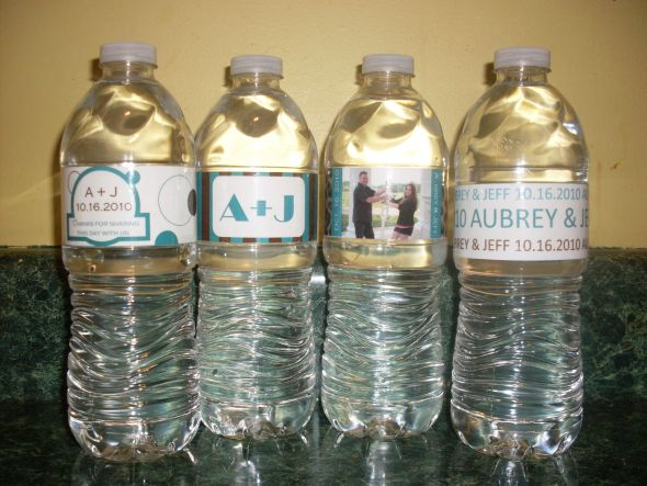 Personalized Water Bottles Weddingbee Photo Gallery