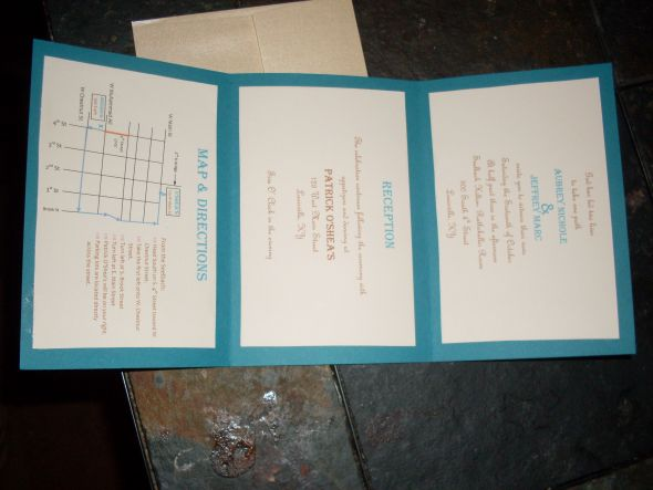 Simple DIY Wedding Invitations wedding teal brown ivory diy invitations