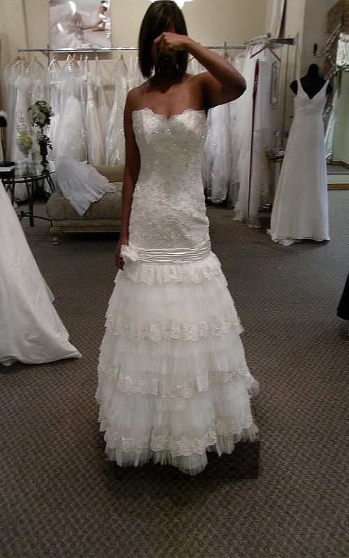 Any tiered dress brides out there wedding tiered wedding gown layered