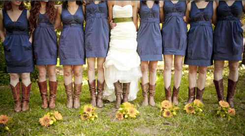 This would look nice for a fall wedding Country Themed Blue Brown and