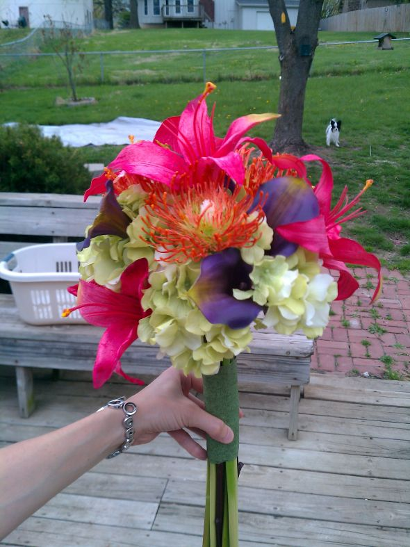 Beautiful Diy Bridal Bouquet Fake Flowers Ensign - Top Wedding Gowns ...