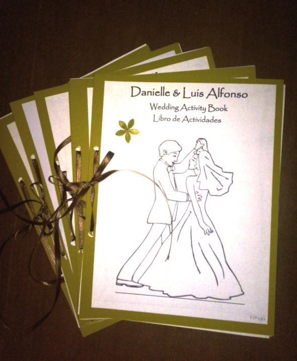 Children's Activity Books (bilingual) :  wedding Finished