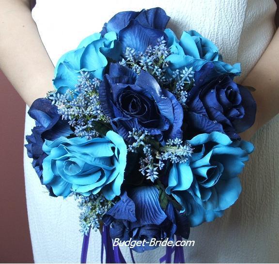 Wedding Bouquet Bridal Flower Arrangements Blue