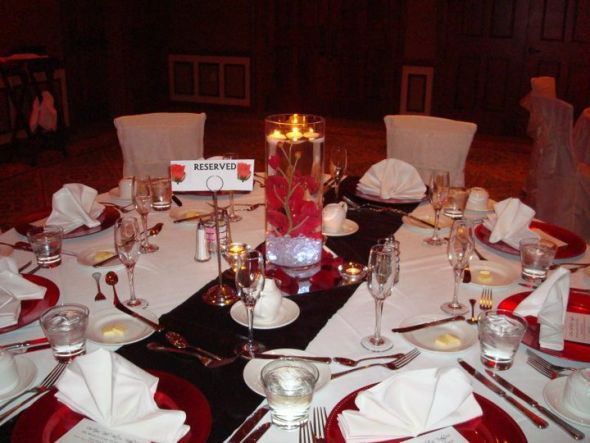 wedding black white red reception rehersal posted by kmz330 1 year ago