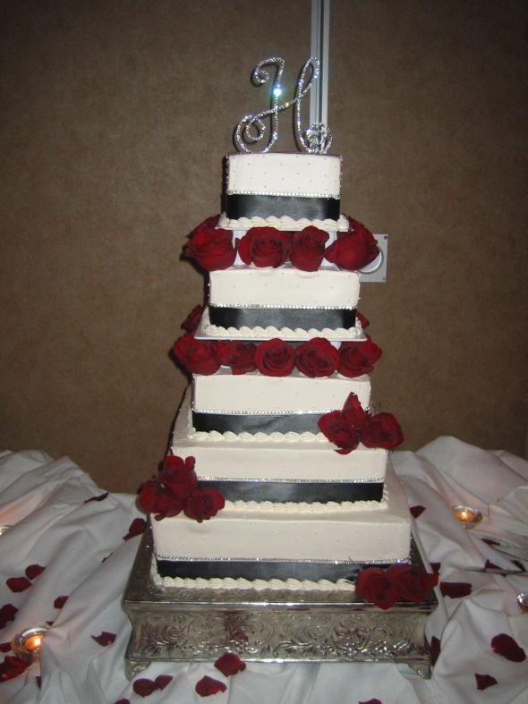 What i have left red black ivory bling wedding
