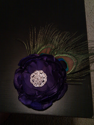 My Peacock Hair Fascinator