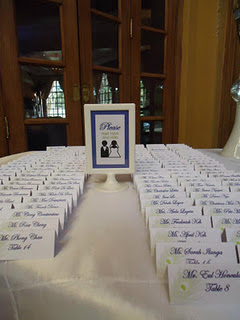 Peacock Escort Cards
