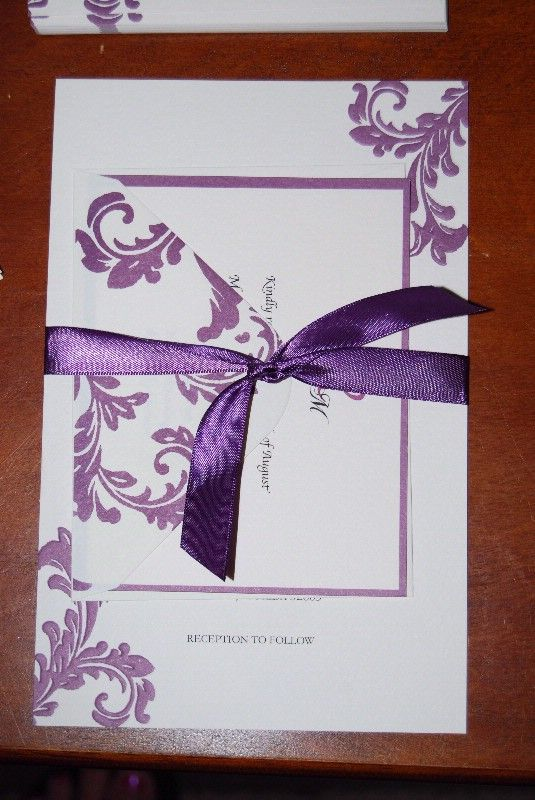 Invitations Complete wedding invitations diy purple Invite 4
