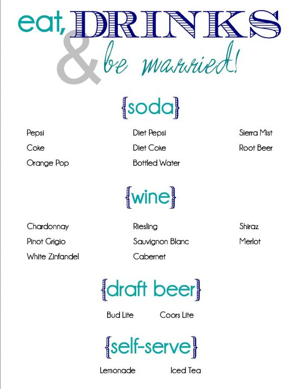 wedding drink menu template free - wedding trend ideas linen beach wedding dresses