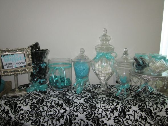 Tiffany Blue Damask table numbers card box damask runner more
