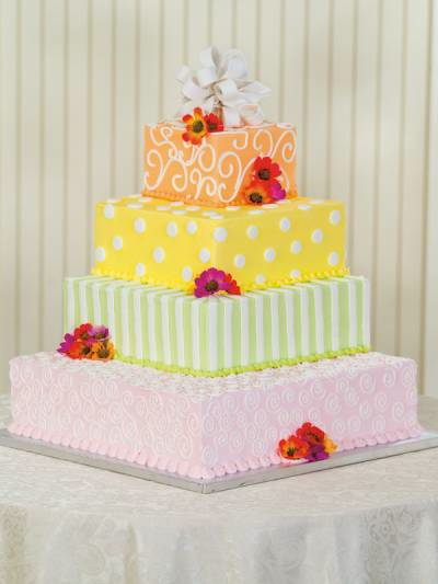 Can I pretty please see your grocery store wedding cakes