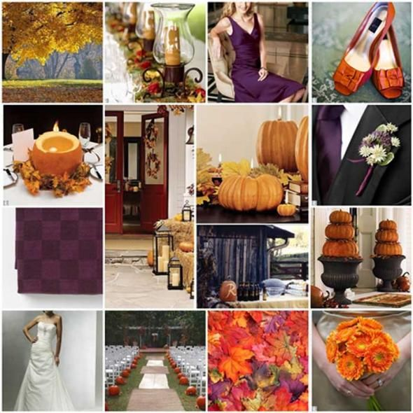 My Fall Wedding Colors Purple and Green or Purple and Orange wedding