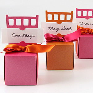 Place Card Holder / Favor Box :  wedding place card 1 escort card favor box favors favor white diy reception Chiar